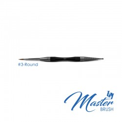 BesQual Master Brush #3 - Round with Natural Kolinsky
