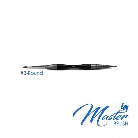 BesQual Master Brush #3 - Round with Natural Kolinsky