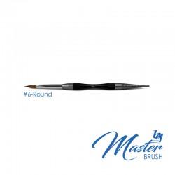 BesQual Master Brush #6 - Round with Natural Kolinsky