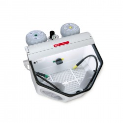 Basic classic, 25-70µm/70-250µm, 100-120 V Fine sandblasting unit