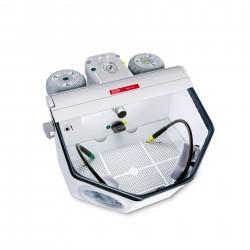 Basic master, 25-70µm/70-250µm, 100-120 V Fine sandblasting unit