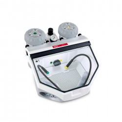 Basic eco, 25-70µm/70-250µm, 120 V Fine sandblasting unit