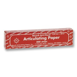 Articulating Paper Red X-Thin 40 Microns (Book of 200 Strips)