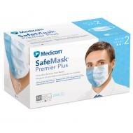 Safe+Mask Premier Plus EL Blue Level 2 50/Bx  Medicom -Made in USA