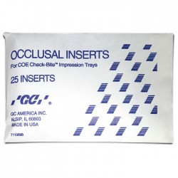 Occlusal Inserts pk/25