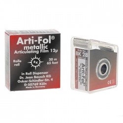 Arti-Fol® Metallic Shimstock Film in Dispenser 20 m x 22 mm, 2 Sided, Black/Red*