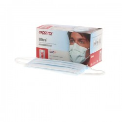 Ultra® Earloop Face Masks – ASTM Level 3, Latex Free, Blue, 40/Box Made in USA